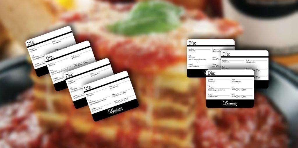 Etiqueta Autoadherible Restaurante Luciano