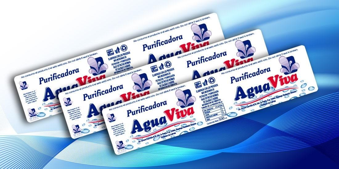 Etiquetas Purificadora Agua Viva