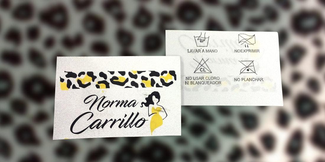 Norma Carrillo Etiquetas para ropa