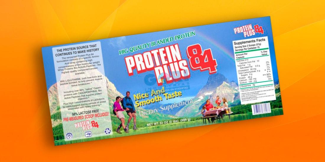 Protein Plus 84 etiquetas autoadheribles