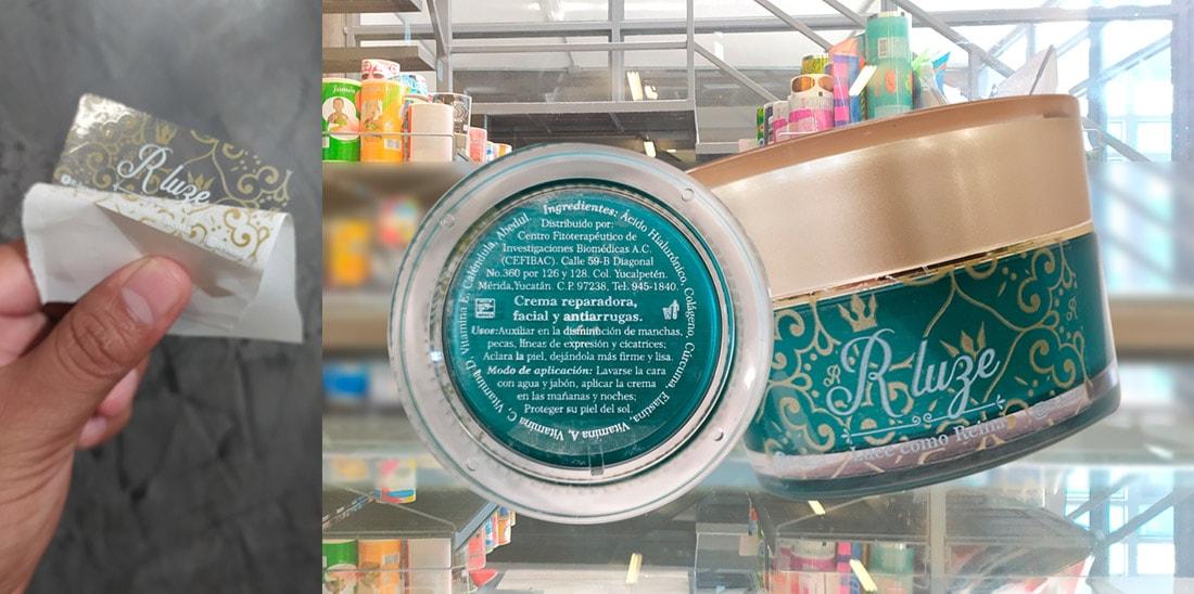 Bandas de garantía para cremas