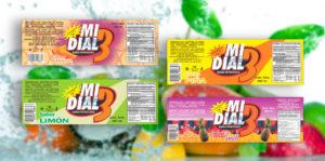Industrias Gori fabricó las etiquetas autoadheribles Bebidas Mi Dial 3 para pegar en envases de plástico de presentación 480 ml. Nuestro objetivo al producir su etiqueta es darle buena imagen a sus aguas frescas y para esto es necesario que estén fabricados con materiales de primera como